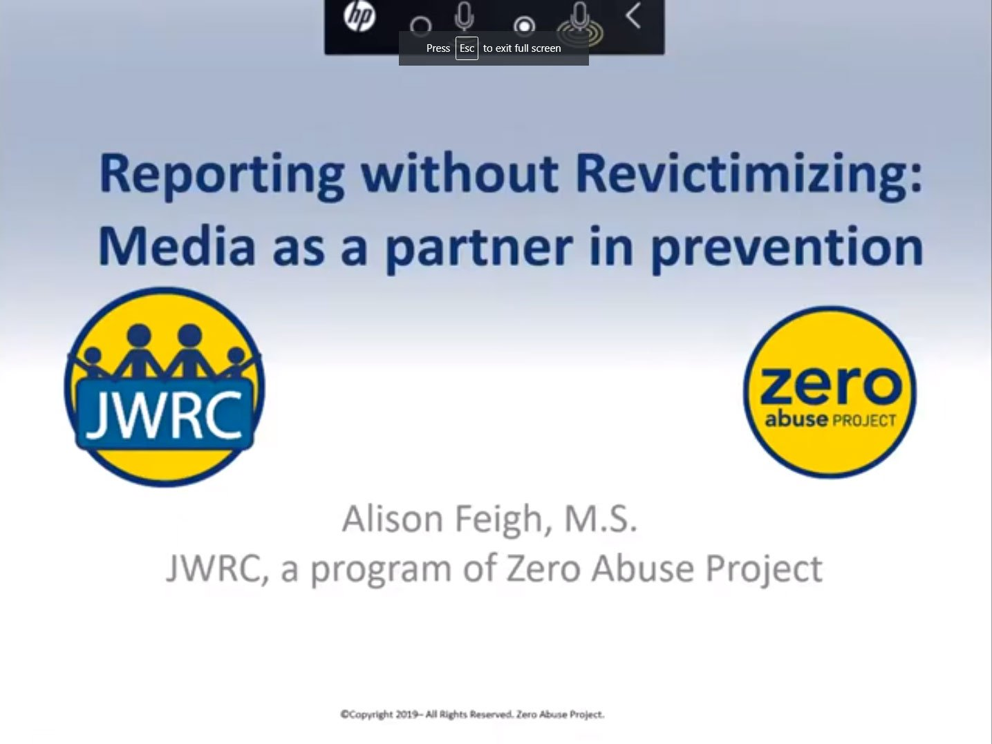Reporting without Re-Victimizing: Working with the Media