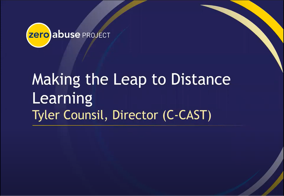 CAST Making the Leap to Distance Learning